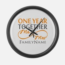 Gift For 1st Wedding Anniversary Large Wall Clock