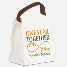 Gift For 1st Wedding Anniversary Canvas Lunch Bag