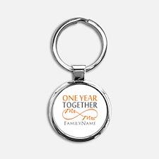 Gift For 1st Wedding Anniversary Round Keychain