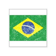 Distressed Brazil Flag Sticker