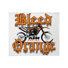 BleedOrange Throw Blanket