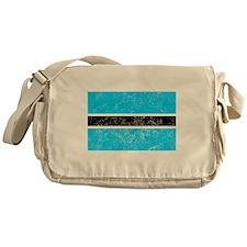 Distressed Botswana Flag Messenger Bag
