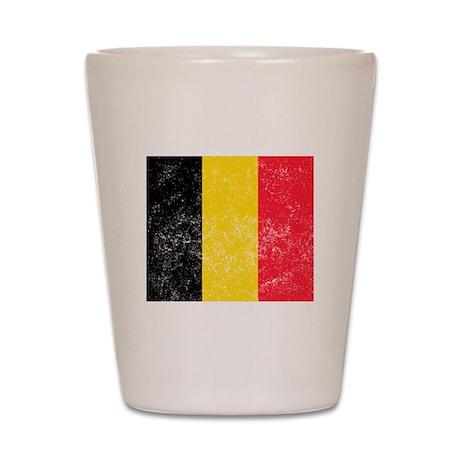 Distressed Belgium Flag Shot Glass