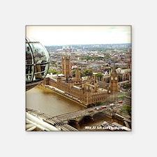 "Big Ben From The Eye Square Sticker 3"" X 3&qu"