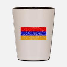 Distressed Armenia Flag Shot Glass