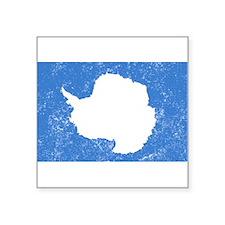 Distressed Antarctica Flag Sticker