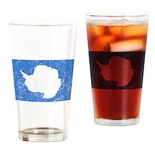 Distressed Antarctica Flag Drinking Glass