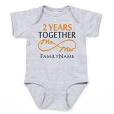 Gift For 2nd Wedding Anniversary Baby Bodysuit