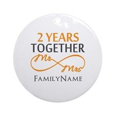 Gift For 2nd Wedding Anniversary Ornament (Round)