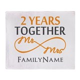 2nd anniversary Fleece Blankets