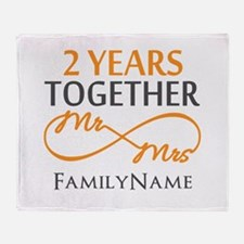 Gift For 2nd Wedding Anniversary Throw Blanket