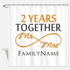 Gift For 2nd Wedding Anniversary Shower Curtain