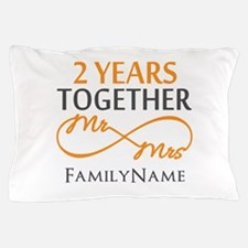 Gift For 2nd Wedding Anniversary Pillow Case