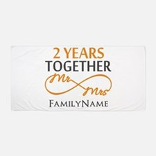 Gift For 2nd Wedding Anniversary Beach Towel