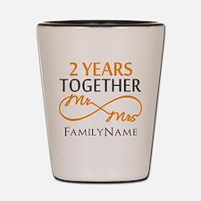 Gift For 2nd Wedding Anniversary Shot Glass