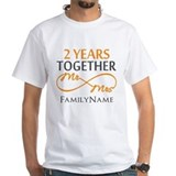 2nd anniversary Mens White T-shirts