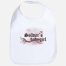 Soldier's Babygirl Bib