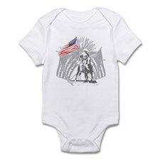 Freedom rider grey Infant Bodysuit