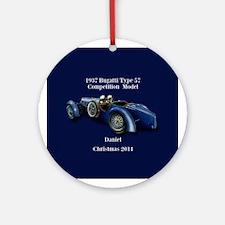1937 Bugatti Personalized Ornament (round)