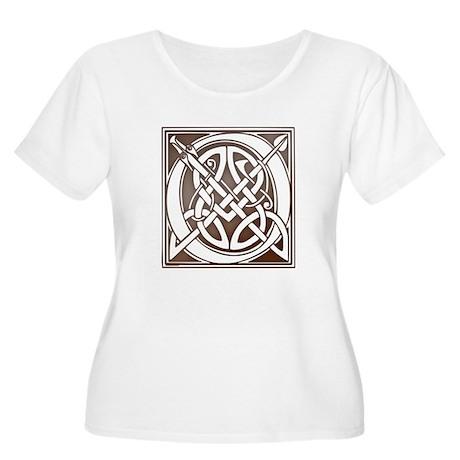 Celtic Letter O Women's Plus Size Scoop Neck T-Shi