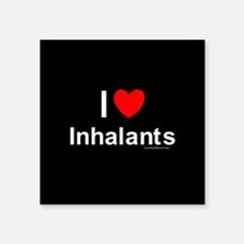 "Inhalants Square Sticker 3"" x 3"""