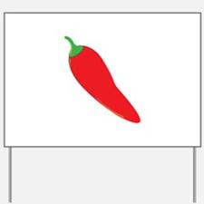 Red Chili Pepper Yard Sign