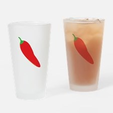 Red Chili Pepper Drinking Glass