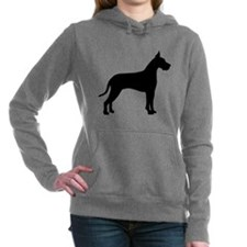 great dane black.png Women's Hooded Sweatshirt