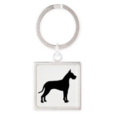 great dane black.png Keychains