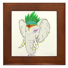 Elephant Flapper Framed Tile