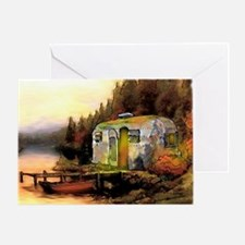 Airstream camping Greeting Card