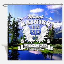 Mount Rainier Camper Shower Curtain