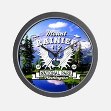Mount Rainier Camper Wall Clock