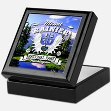 Mount Rainier Camper Keepsake Box