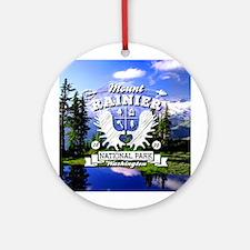 Mount Rainier Camper Ornament (Round)