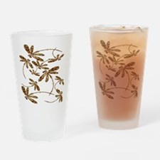 Dragonfly Gold Frenzy Drinking Glass