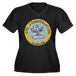 USS CONSTELL Women's Plus Size V-Neck Dark T-Shirt