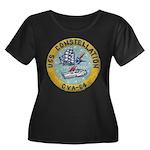 USS CONS Women's Plus Size Scoop Neck Dark T-Shirt