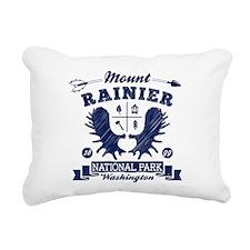 Mount Rainier Camper Rectangular Canvas Pillow