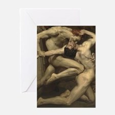 William Bouguereau: Dante and Virgil Greeting Card