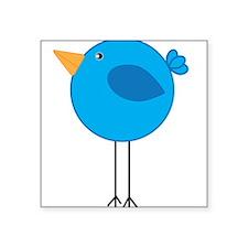 Blue Bird Cartoon Sticker