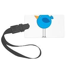 Blue Bird Cartoon Luggage Tag