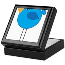Blue Bird Cartoon Keepsake Box