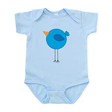 Blue Bird Cartoon Body Suit