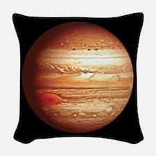 Planet Jupiter Woven Throw Pillow