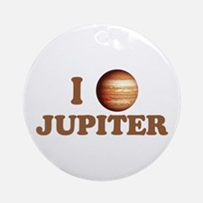 I Love Jupiter Ornament (Round)