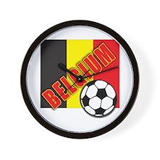Belgium World Soccer Wall Clock
