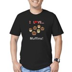 I Love Muffins Men's Fitted T-Shirt (dark)