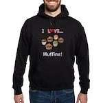 I Love Muffins Hoodie (dark)