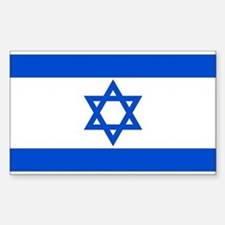 Israel State Flag Rectangle Bumper Stickers